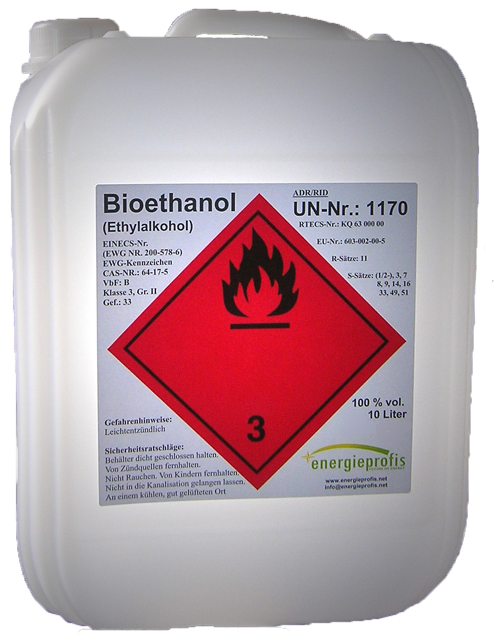 20 liter kamin bioethanol 100 in kanistern versandkostenfrei energieprofis. Black Bedroom Furniture Sets. Home Design Ideas