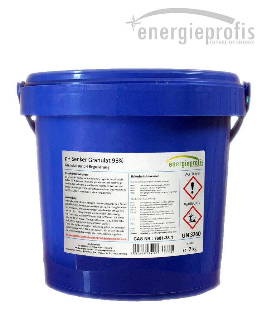 Großartig 15 kg pH Senker Granulat 93% - energieprofis GbR XO35